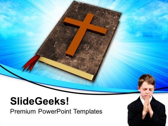 Child Praying Faith Christianity PowerPoint Templates Ppt Backgrounds For Slides 1212