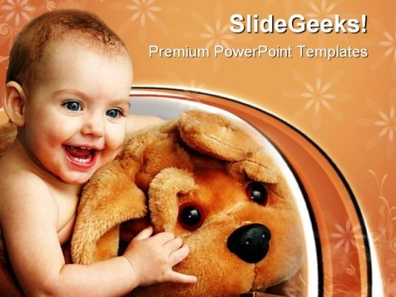 Child With A Toy Baby PowerPoint Themes And PowerPoint Slides 0711