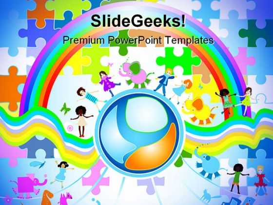 Children Diversity Global PowerPoint Themes And PowerPoint Slides 0211