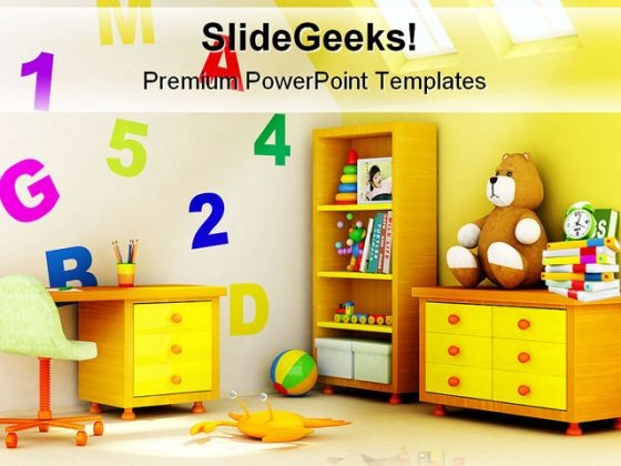 Children Room Architecture PowerPoint Backgrounds And Templates 1210