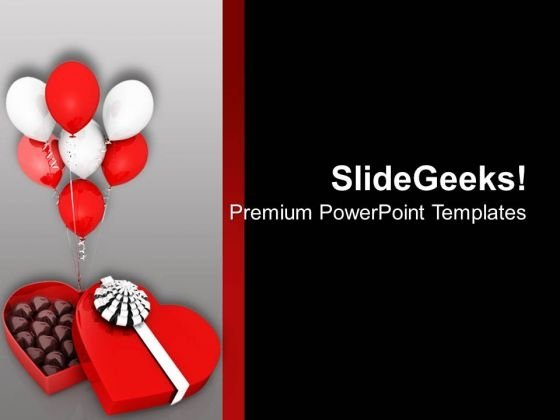 Chocolate And Ballons Gives Special Effects PowerPoint Templates Ppt Backgrounds For Slides 0713