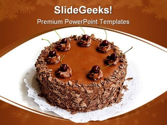 Chocolate Cake Health PowerPoint Templates And PowerPoint Backgrounds 0211