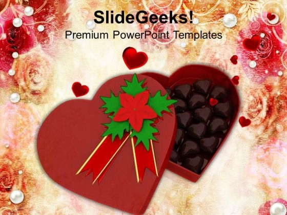 Chocolate Gift Box For Valentines Day PowerPoint Templates Ppt Backgrounds For Slides 0213