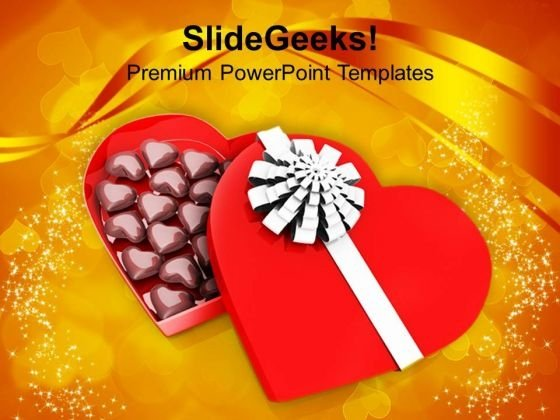 Chocolate Gift Box Wedding Background PowerPoint Templates Ppt Backgrounds For Slides 0213