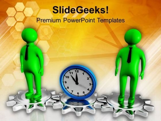 Choose A Right Gear On Time PowerPoint Templates Ppt Backgrounds For Slides 0713