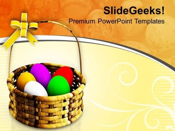Choose Right Basket Of Easter Eggs PowerPoint Templates Ppt Backgrounds For Slides 0813