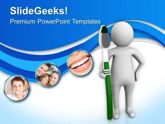 Choose Right Way For Oral Hygiene PowerPoint Templates Ppt Backgrounds For Slides 0713