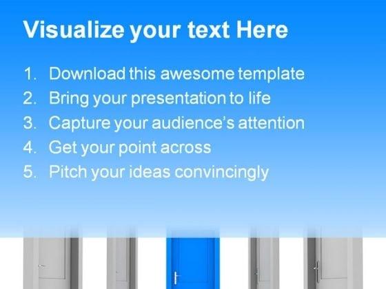 choose_the_door_business_powerpoint_template_0910_text