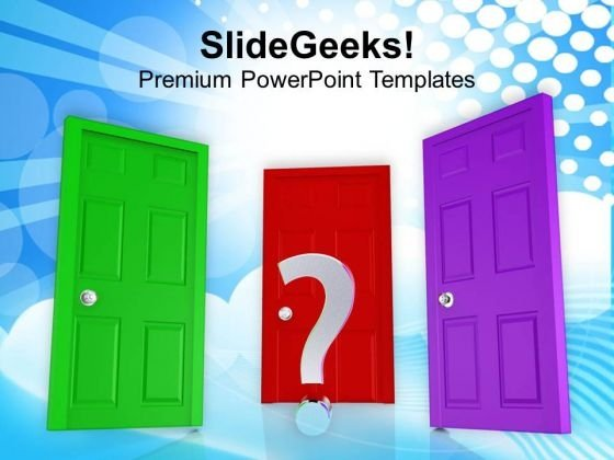 Choose The Right Opportunity PowerPoint Templates Ppt Backgrounds For Slides 0413