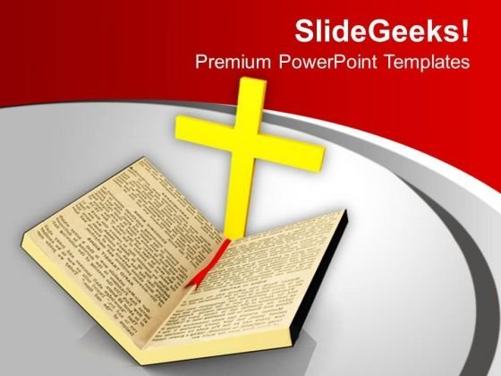 Christian Cross Symbol Holy Bible PowerPoint Templates Ppt Backgrounds For Slides 1212