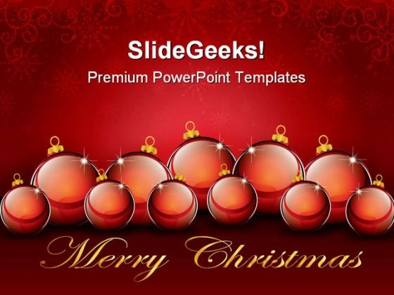 Christmas Balls Background PowerPoint Templates And PowerPoint Backgrounds 1211
