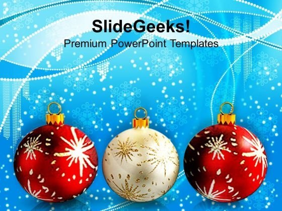 Christmas Balls Christmas PowerPoint Templates Ppt Backgrounds For Slides 1112