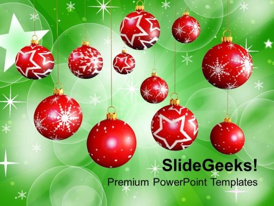 Christmas Balls Winter Holidays PowerPoint Templates Ppt Backgrounds For Slides 1112