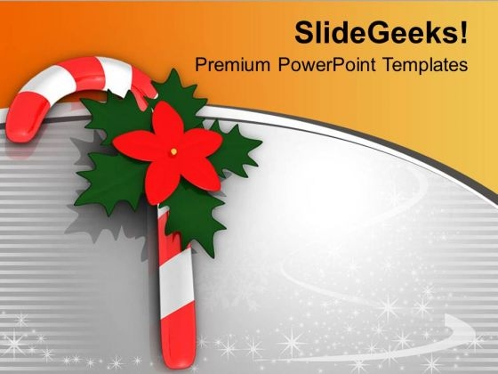 Christmas Candy Cane Holidays PowerPoint Templates Ppt Backgrounds For Slides 0113
