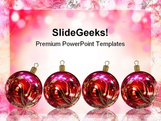 Christmas Card Festival PowerPoint Backgrounds And Templates 1210