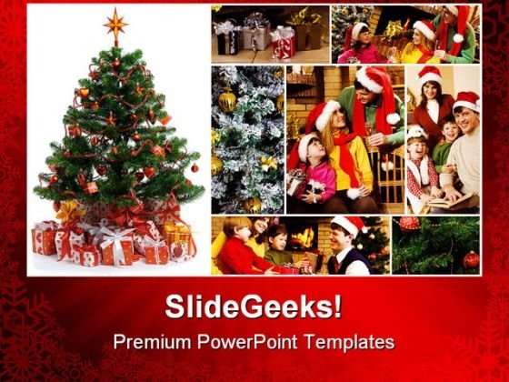 Christmas Celebration Festival PowerPoint Themes And PowerPoint Slides 0211