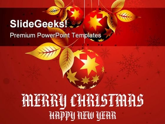 Christmas Concept Festival PowerPoint Templates And PowerPoint Backgrounds 0811