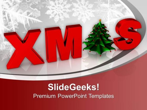 Christmas Concept Winter Background PowerPoint Templates Ppt Backgrounds For Slides 0113