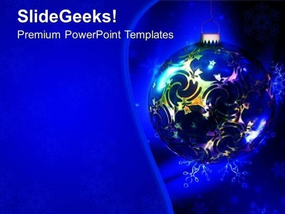 Christmas Decoration Bulbs PowerPoint Templates Ppt Backgrounds For Slides 0613