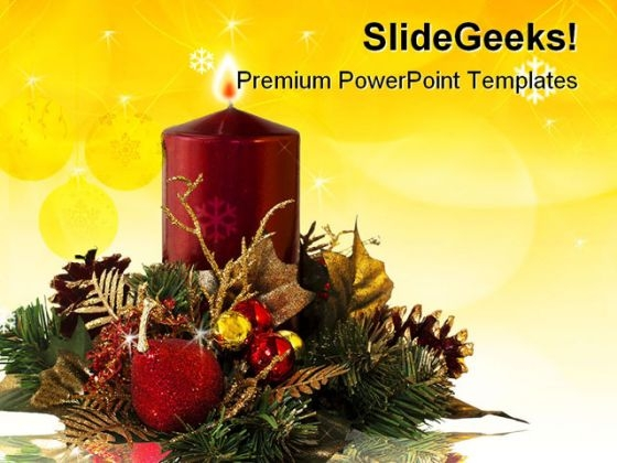 Christmas Decoration Festival PowerPoint Themes And PowerPoint Slides 0411