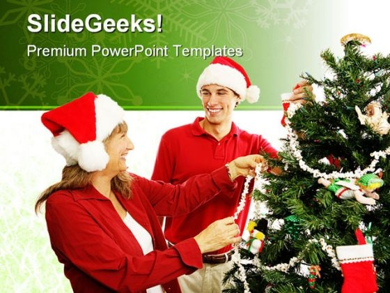 Christmas Decorations Festival PowerPoint Themes And PowerPoint Slides 0411