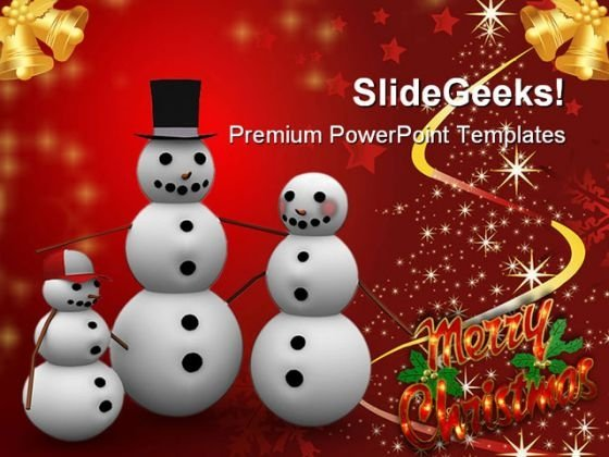 Christmas Family Events PowerPoint Templates And PowerPoint Backgrounds 0411