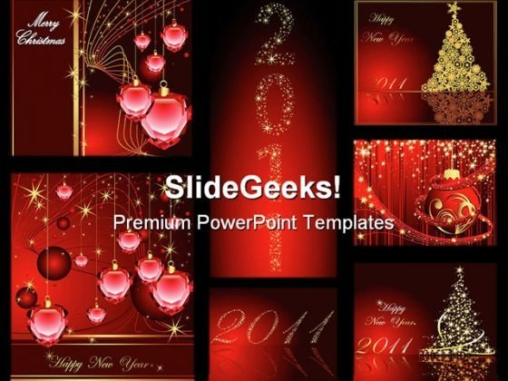 Christmas Festival PowerPoint Template 1010
