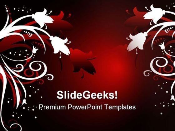 Christmas Floral Abstract PowerPoint Themes And PowerPoint Slides 0511
