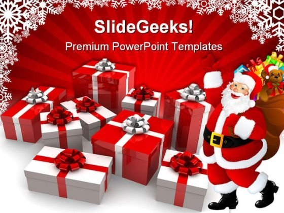 Christmas Gifts Festival PowerPoint Templates And PowerPoint Backgrounds 0511