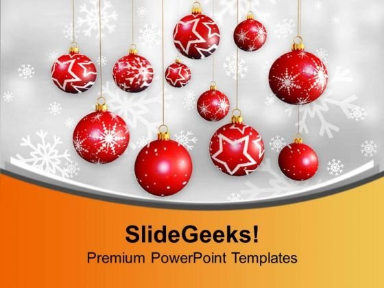 Christmas Hanging Balls Picture Ornament PowerPoint Templates Ppt Backgrounds For Slides 0113