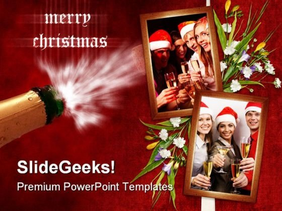 Christmas Holidays Celebration PowerPoint Template 1010