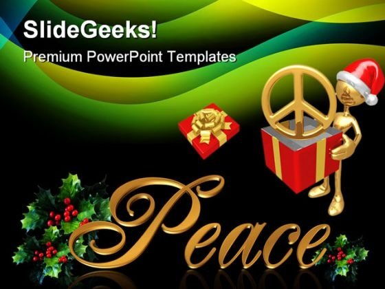 Christmas Peace Festival PowerPoint Themes And PowerPoint Slides 0511