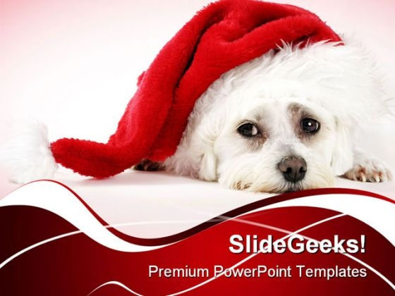 Christmas Pooch Holidays PowerPoint Themes And PowerPoint Slides 0211