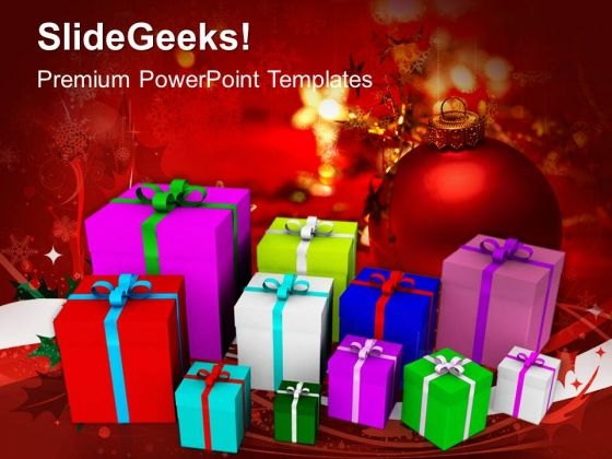 Christmas Presents Shopping PowerPoint Templates And PowerPoint Themes 0912