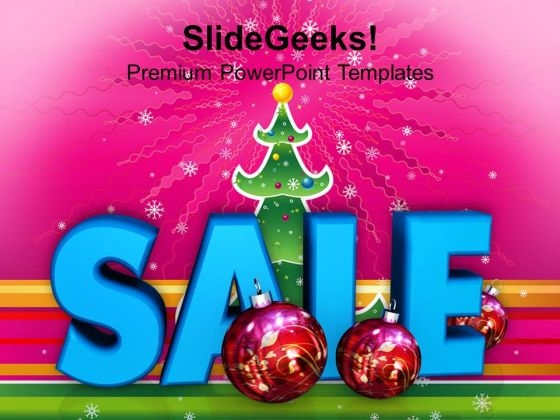 Christmas Sale And Filigree Decoration Events PowerPoint Templates Ppt Backgrounds For Slides 1112