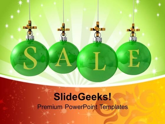 Christmas Sale Decoration Holidays PowerPoint Templates Ppt Backgrounds For Slides 1112