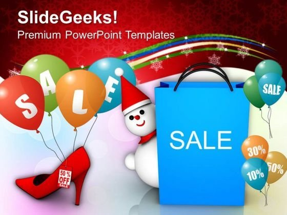 Christmas Sale Discounts Shopping PowerPoint Templates Ppt Backgrounds For Slides 1112