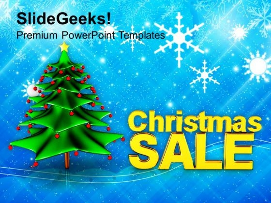 Christmas Sale Holidays Shopping PowerPoint Templates Ppt Backgrounds For Slides 1112