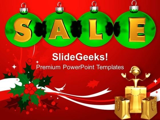 Christmas Sale Shopping PowerPoint Templates Ppt Backgrounds For Slides 1212