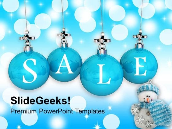 Christmas Sale Winter Shopping PowerPoint Templates Ppt Backgrounds For Slides 1112