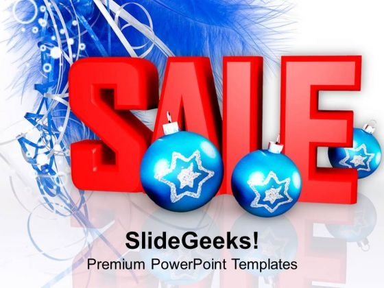Christmas Sale With Baubles Background Holidays PowerPoint Templates Ppt Backgrounds For Slides 1112