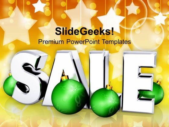 Christmas Sale With Winter Bakcground PowerPoint Templates Ppt Backgrounds For Slides 1112