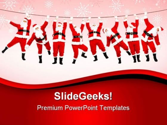 Christmas Santa Festival PowerPoint Templates And PowerPoint Backgrounds 0611