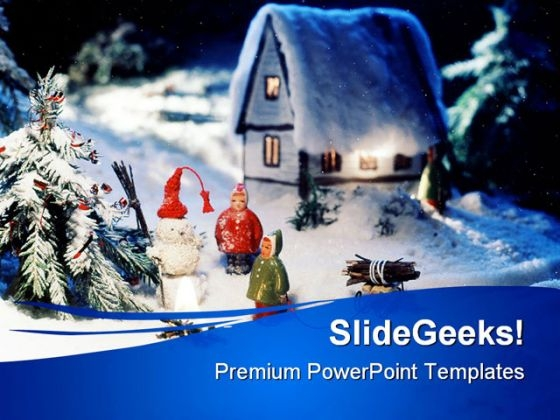 Christmas Scene Abstarct PowerPoint Templates And PowerPoint Backgrounds 0511
