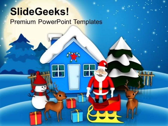 Christmas Scene Holidays PowerPoint Templates Ppt Backgrounds For Slides 1212
