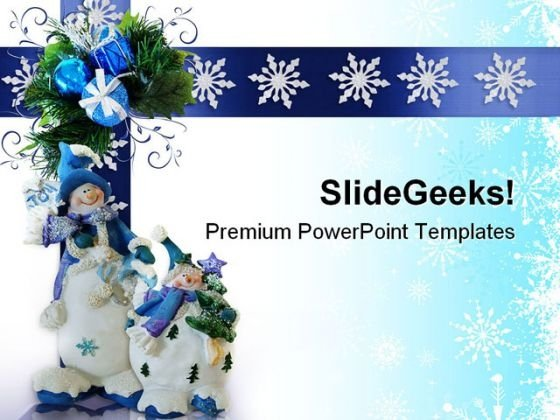 Christmas Snowman Festival PowerPoint Themes And PowerPoint Slides 0711