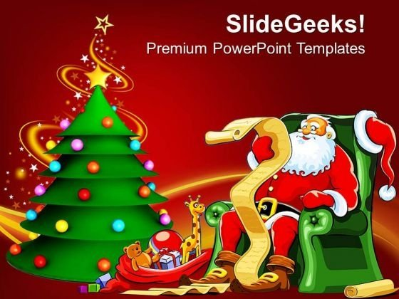 Christmas Theme Festival Powerpoint Templates Ppt Backgrounds For