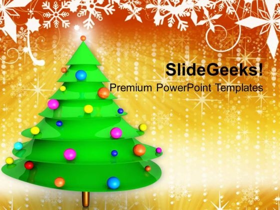 Christmas Tree Abstract PowerPoint Templates Ppt Backgrounds For Slides 1212
