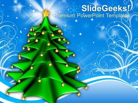 Christmas Tree Background Powerpoint Templates Ppt Backgrounds For