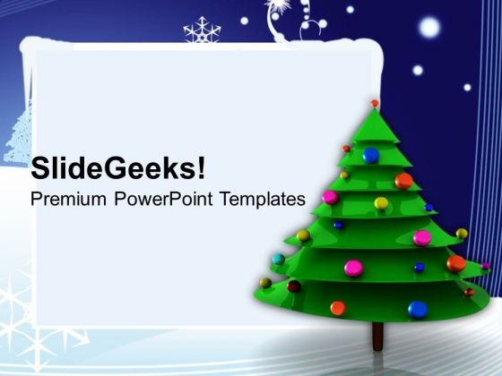Christmas Tree Decorations Festival PowerPoint Templates Ppt Backgrounds For Slides 1112